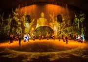 大型沙漠实景演出《敦煌盛典》 - 360度旋转观众席+裸眼3D灯光秀+敦煌民俗